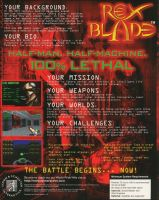 Rex Blade: The Battle Begins Back Cover by derrickthebarbaric