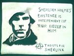 Why Believe in Sherlock?: Stencil 1 by Graphitekind