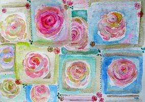 My Paper Rose Collection by GeaAusten