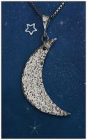 Crescent Moon Pendant by Sarahorsomeone