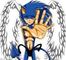 sonic whith wings by f-sonic