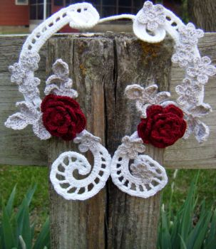 Irish Lace Rose Necklace - For Display Only by Arexandria