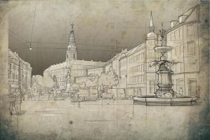 Copenhagen Sketch 6 by Meanor