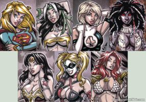 French Sketch Cards by gb2k