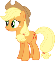 Worried Applejack by Givralix