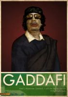 Colonel Gaddafi by gormark