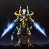 protoss zealot by blackpanther0123