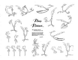 Road Runner Model Sheet Ver. 4 by guibor