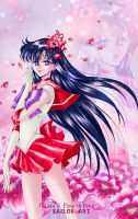 Sailor Mars_style manga art by Pillara