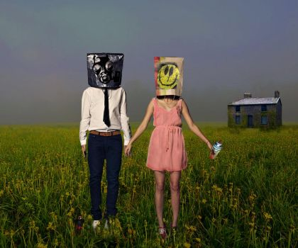 Mr. And Mrs. Bag Head by CassieLivingdeadgirl