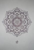 flower mandala by shitShyle