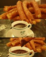 Chocolate con Churros by Pzychonoir