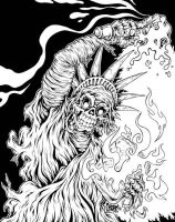 Dead Liberty bw version by MonsterInk