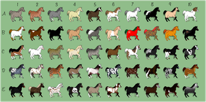 50 Horse Adoptables by smudge-92