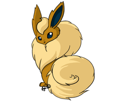 Commission - Shiny Flareon by CheezieSpaz