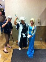 Jack Frost, me, and Elsa(Mechacon 2014) by Hound-02