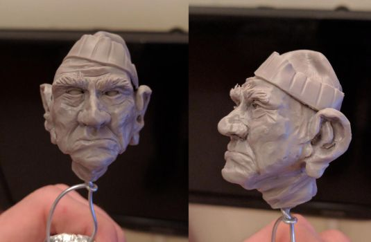 Sculpture, Old Man Head by UmbarJr