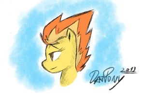 MLP: Spitfire (quick sketch) by DatPonyPL