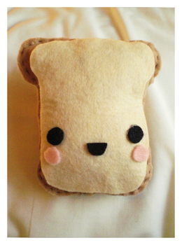 Toast Plushie by pleadyourcase