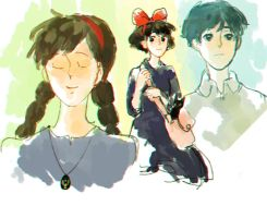 Some Studio Ghibli Fanart~~ by OtaKuchan26