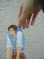 Flynn Rider Paper Child by LindyArt