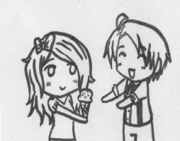 Lila and Alfred and ice cream! by Dark--Alfred