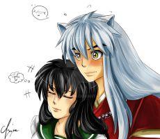 Inuyasha : Unexpected Blush by spogunasya