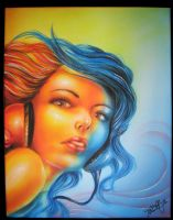 Airbrushed Canvass by Pick1