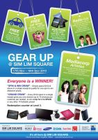 Gear Up Poster for SIM LIM SQ by GraphIcatZ