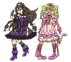 Goth and Sweet Lolita Style by ehri