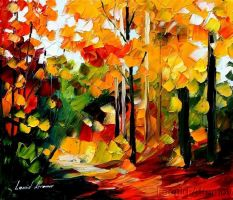 Afremov AUTUMN Original Art Oi by Leonidafremov
