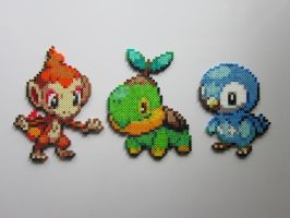 Pokemon Starters No.4 by 8-BitBeadsStudio
