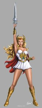She-Ra 30th Anniversary SDCC 2014 Standee by Eamonodonoghue
