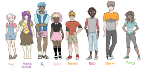 OC Lineup by CamptainAmerica