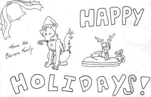 Happy Holidays- Dameon+Joey by Mexican-Lobo