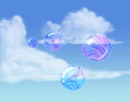 Bubbles in the Clouds by VeggieMomentum