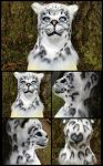 {For Sale} Snow Leopard Fursuit Head / Mask by MissCreatureCreator