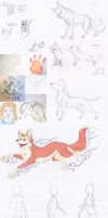 Sketch dump - collab - WIP May 2013 by Nakouwolf
