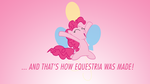 And That's How Pinkie Pie Was Made Wallpaper by apertureninja