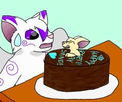 HAPPY BDAY SAND Late by kyro909