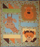 Jungle Baby Quilt by CyberSunbeam