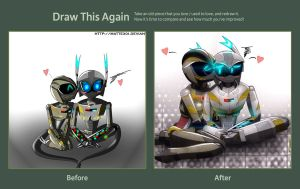 Draw This Again Challenge-with robots! by Mattex01
