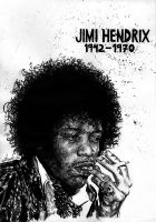 Jimi Hendrix by the-ChooK