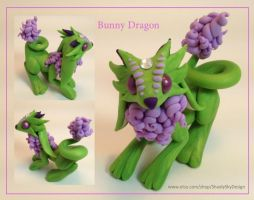 Polymer Clay Bunny Dragon by ShaidySkyDesign