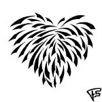 Tribal Heart by Brainstorm-bw-style