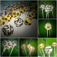 Safari Cake Pops by XxPunkinxMelsxX