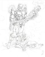 Big BoomStick Warrior by mr-ss