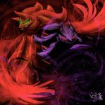 Iblis and Mephiles 2.0 by DarkStarling716