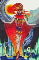 The Firebird (detail 1) by InkyRose