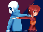 Red and Blue by WaterFox-Studios